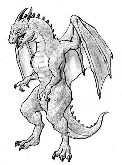 ドラゴンの描き方1 モンスターを描こう